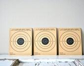 3 Vintage 1950s Shooting Targets: Rapid Fire 25 Foot Targets