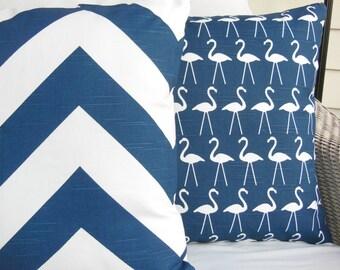 Navy White Decorative Pillows Throw Pillow Cushion Covers Coastal Chevron Nautical Pillows Navy Blue Beach Cushions Couch Sofa Pillow