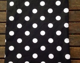 "10""x13"" Travel Wet Bag - Black Polka Dot-Optional Strap Available"