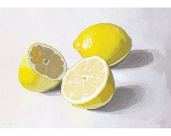 "5x7"" print - lemon still life - ""Lemons 1"""