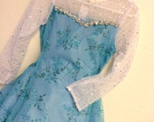 Frozen Elsa sparkle full length princess dress with rhinestones and glitter