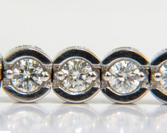 4.30CT Round Diamonds Bracelet G VS A+ Full Cuts14Kt