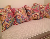 Bench Cushion, Pillow Covers and Bolster - Design your Own