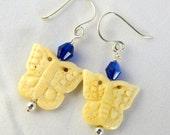 Butterfly Bone Earrings