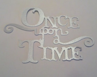 2--Once Upon A Time Die Cuts Silver Metallic Paper