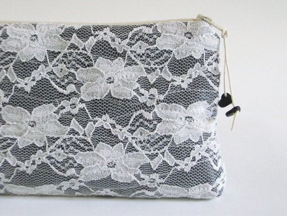 Lace Wedding Clutch, Jet Lace Clutch, Bridal Lace Clutch, Jet Lace Purse, Bridesmaids Purse