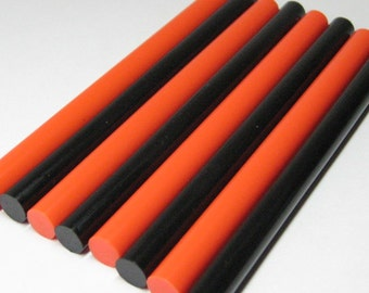 hot glue sticks orange black 10pcs for mini glue guns srapbooking crafting decoden and kawaii projects Halloween