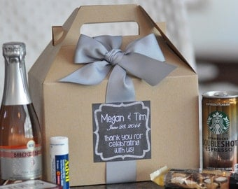 Out of Town Guest Box {Bridesmaid gifts, Hangover kit, Welcome Gift} Set of 38