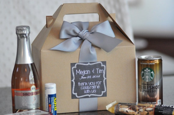 to Out of Town Guest Box {Bridesmaid gifts, Hangover kit, Welcome Gift ...
