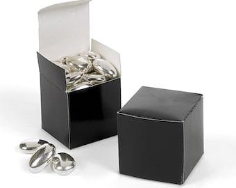 """Black Favor boxes-12 EA.- 2"""" Square"""