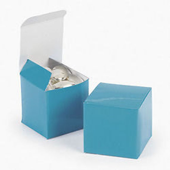Turquoise Favor boxes-12 EA.