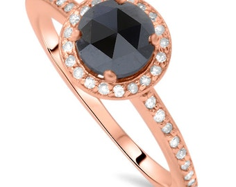 Morganite And  Diamond Rose Gold Pave Halo 1.00CT Morganite & Diamond Rose Gold Pave Halo Engagement Anniversary Fashion Vintage Antique