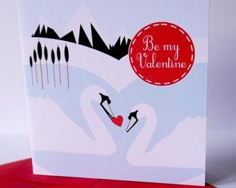 Swan Valentine Card