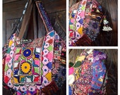 SALE 1/2 price, Ethnic Boho, Tribal, Banjara, Western India, Bohemian Style, Hand Bag, Tote, Purse, Free US postage + gift