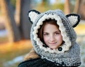 Wolf Cowl Hood Hat Woodland Photo Prop Photography