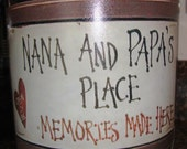 Nana and Papa Place Memories made Here......  Cookie Jar