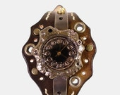 Vintage Retro Steampunk Handcraft Watch. Handstitch Leather Band /// Catacomb - Perfect Gift for Birthday and Anniversary