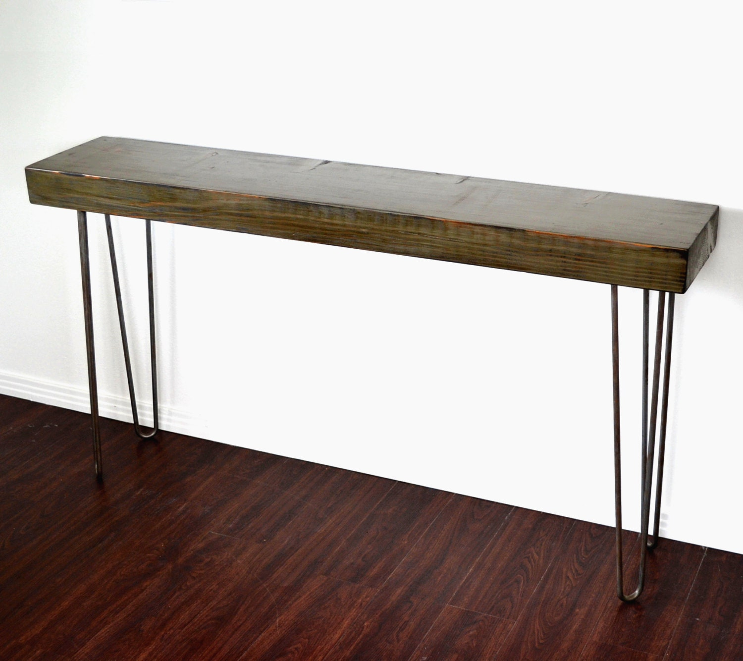Console Table Woodworking ~ Console table salvaged wood reclaimed industrial factory beam