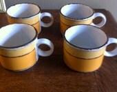 Stonehenge Midwinter Sun stoneware pottery cups mug  RESERVED
