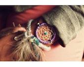 DCB-01, Your choice of 1 Eco-friendly dreamcatcher friendship bracelet, pink purple pink black white brown grey