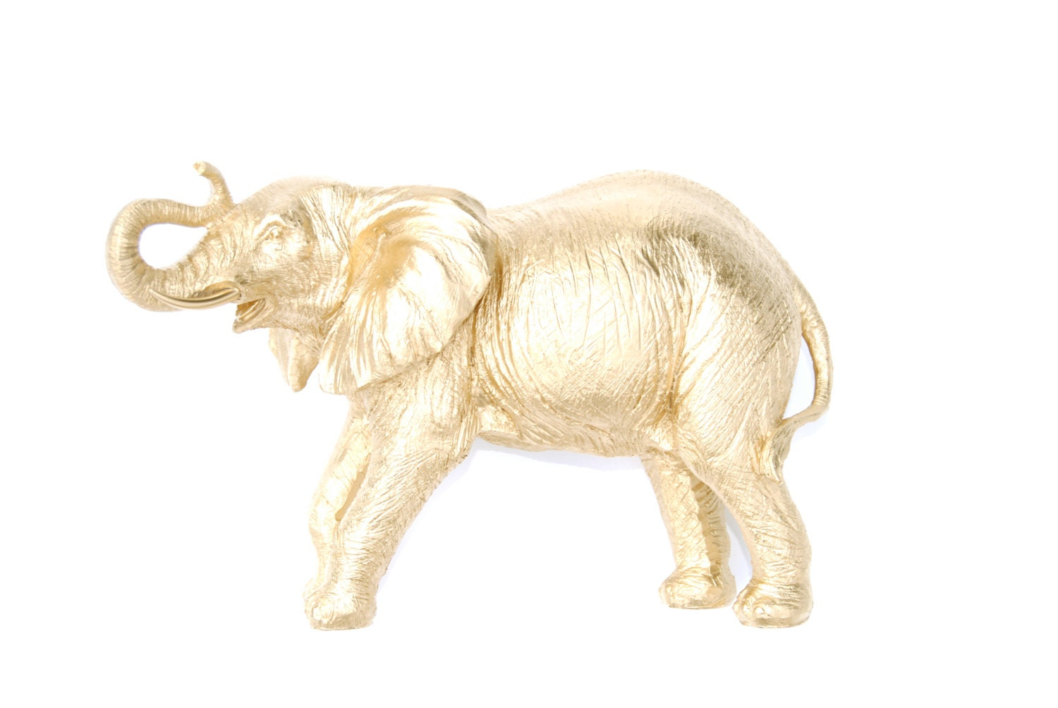 Gold Elephant Statue Unique Elephant Home Decor By Nearanddeer