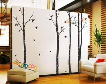 Nursery Wall Decal Tree Wall Decal Forest Wall Sticker Large Forest Wall Decal