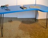 Desk - Sky Blue - Mid-Century Modern