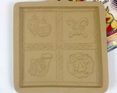 Hill Design Brown Bag Cookie Mold:  Christmas Shortbread