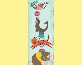 Personalized Vintage Circus Growth Chart