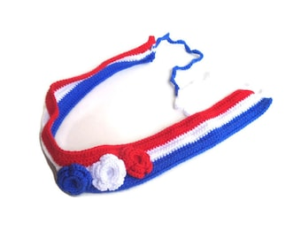 4th of july american flag headband floral headband women crochet headband summer fashion accessories senoAccessory