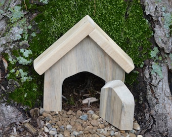 Fairy door unfinished garden fairy door hobbit door for Unfinished fairy door