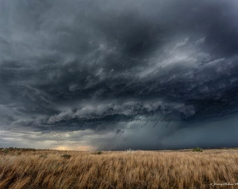 Fine Art Print of an amazing supercell thunderstorm in Texas