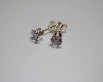 5mm round Amethyst stud earrings