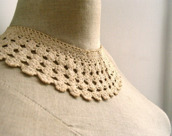 handmade french cleopatra style lace collar