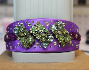 Purple and Green Irish Dance Headband Crown