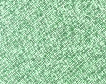 Half Yard Architextures Crosshatch in Fern, Carolyn Friedlander, Robert Kaufman Fabrics, 100% Cotton Fabric, AFR-13503-30 FERN