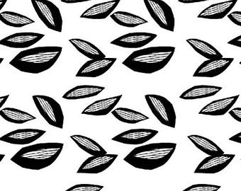 Half Yard Sylvia Hulta in White, Lotta Jansdotter, Windham Fabrics, 100% Cotton Fabric, 37124-2