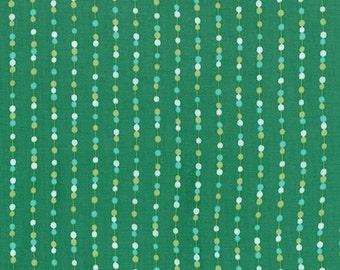 LAST PIECE Half Yard Color Me Happy Beads in Emerald, Vanessa Christenson, V and Co, Moda Fabrics, 100% Cotton Fabric, 10825 14