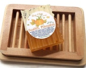 NEW - LARGER - Wooden Soap Dish  - Ladder in Tray Style Soap Dish - Beech Wood Soap Dish