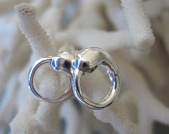 Summer Petite Silver Stud Earrings