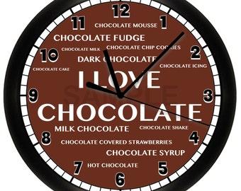 Chocolate Wall Clock Kitchen