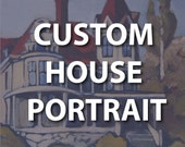 CUSTOM HOUSE PORTRAIT for Kelly - Completed
