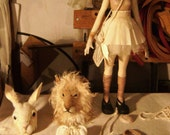 Reserved for Glad2Bhere  Art Doll, sculpture for Valeria Dalmon- Only for comission-