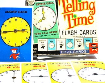 Telling Time Flash Cards by Ed U Cards