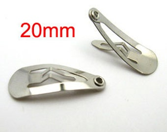 500 pcs 20mm snap clips, wholesale snap clips, mini snap clip, free snap clip, baby snap clip, hair snap clip, toddler snap clip