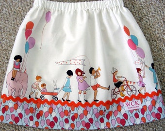 Michael Miller On Parade Skirt   ( 2T, 3T, 4T, 5, 6, 7, 8, 10)