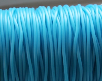 Rubber cord 2mm blue aqua  Blue Hollow Rubber tubing rubber cord S 40 080
