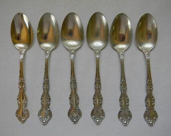 SPOONS, (6) STERLING Silver Teaspoons, Warwick