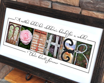 MOTHER Personalized Print 10x20 Alphabet Photography, Mother's Day Gift, UNFRAMED, gift for mom