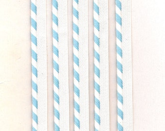 """1/4"""" Angle Strip Welting, Baby Blue and White, Sewing, Findings, Layette, Baby Clothes"""